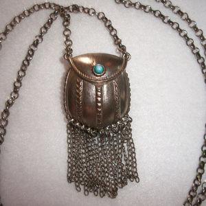 Jewelry - UNIQUE Miniature Purse Silver Locket Necklace